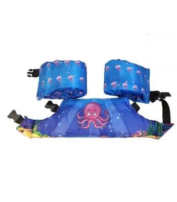 Pływaczki, rękawki - pas do nauki pływania Puddle Jumper Aquarius w kolorze fioletowym z ośmiorniczką