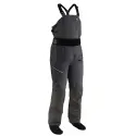 Długie męskie spodnie z szelkami półsuche do sportów wodnych Endurance NRS szare