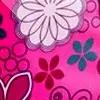 Tekstura Różowy-Kwiatki